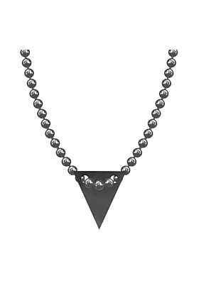 Made In Britain Necklace - Black Rhodium Plated Bunting