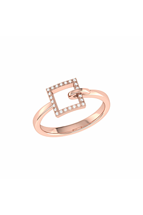 14kt Rose Gold Plated On The Block Ring