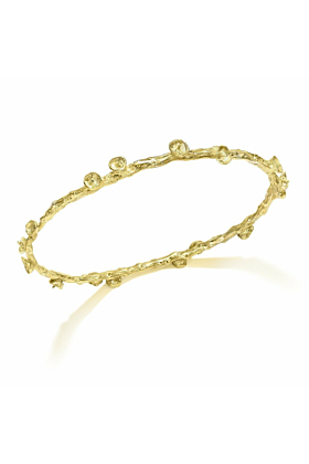 Palm Fruit Bangle 18kt Gold