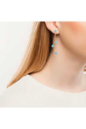 Pimlico Rose Gold Blue Topaz Raindrop Drop Earrings
