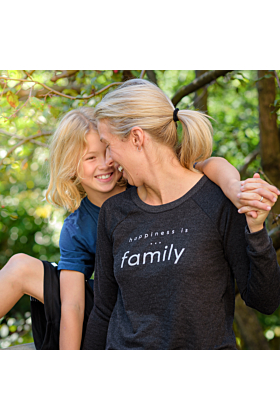 Happiness is...Family Sweatshirt in Charcoal