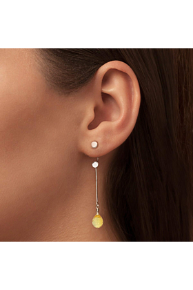Brilliant Brio Earrings With Citrine - Long Drop