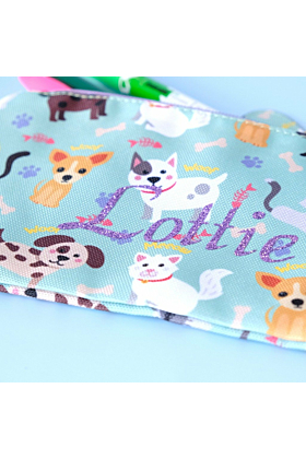 Personalised Cats & Dogs Pencil Case