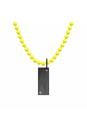 "Black Rhodium Plated Classic Necklace - ""Rectangle"""