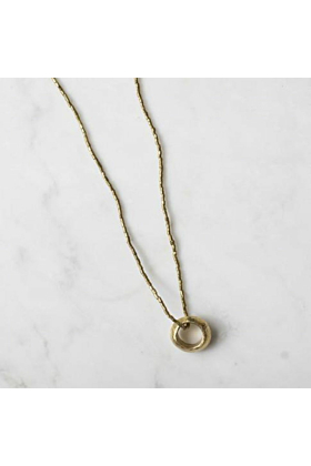 BRASS CLASSIC ETHIOPIAN PROMISE RING NECKLACE