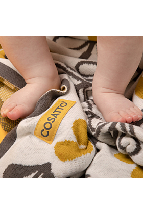Personalised Cosatto Fika Forest Blanket and Jellycat Soft Toy Gift Set