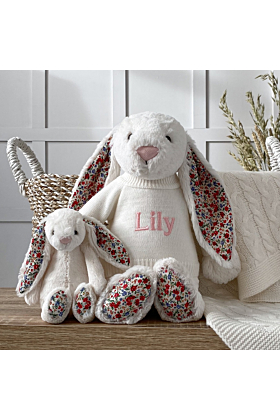 Personalised Jellycat Cream Large Blossom Bunny Soft Toy