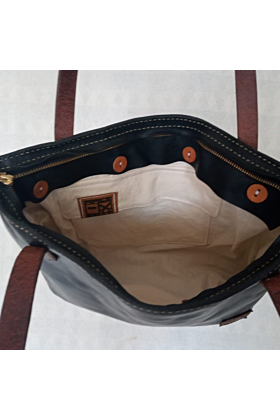 Crazy Horse Leather Tote Bag