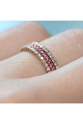 18kt Rose Gold Pretty 3-Ring Combination