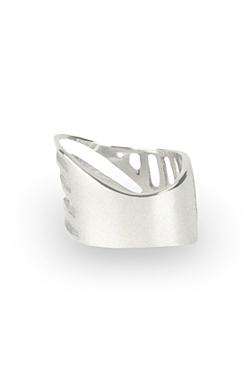 Sterling Silver Cut-Out Sharch Ring