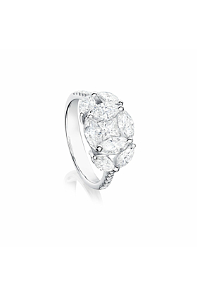 18kt White Gold Eternum Engagement Ring With Diamonds ll