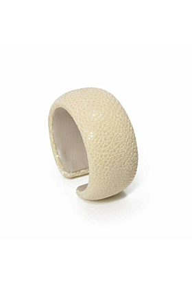 Samba White Stingray Leather Bangle