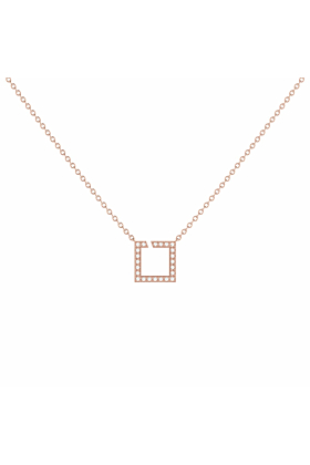14kt Rose Gold Plated Street Light Necklace
