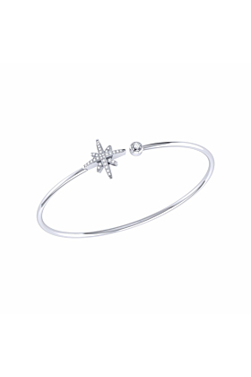 Sterling Silver North Star Cuff