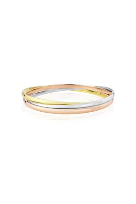 9kt Yellow, White, & Rose Gold Walton Russian Wedding Bangle