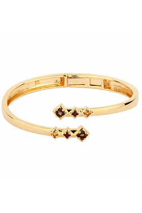 14kt Yellow Gold Plated Sterling Silver Smoky Quartz Charming Visionary Bracelet