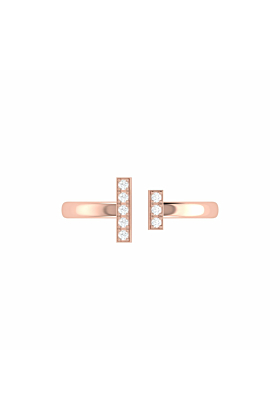 14kt Rose Gold Plated Parallel Park Ring