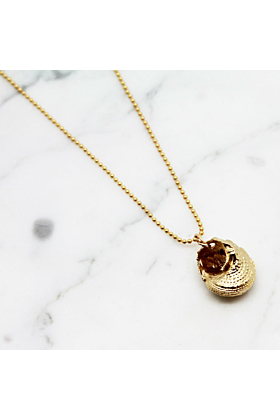 Gold Plated Spiral Shell Necklace
