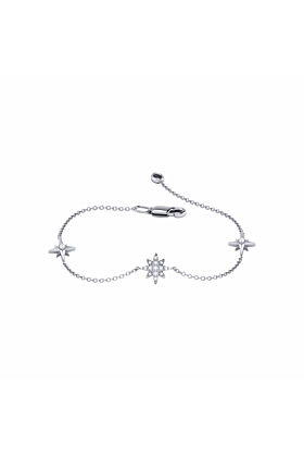 Sterling Silver North Star Trio Bracelet