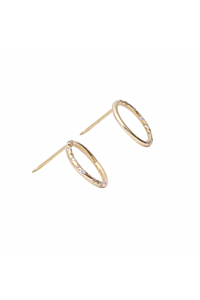 Dew Drop Diamond Disc Earrings