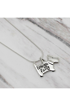 Sterling Silver Personalised Scottie Dog Necklace