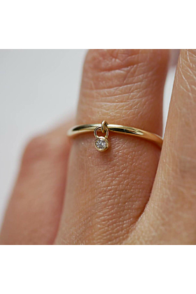 Diamond Dangle Ring