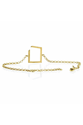 Square Gold Plated Bracelet