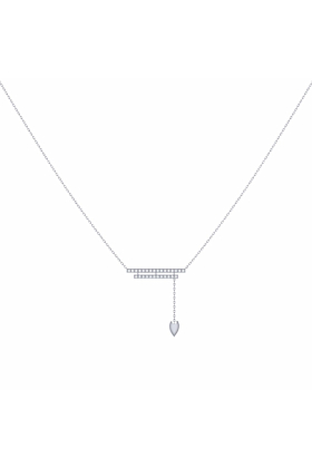 Sterling Silver Wrecking Ball Lariat Necklace