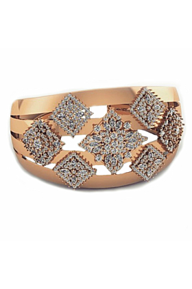 Gold Plated Timeless Cuff Bracelet With Cubic Zirconia