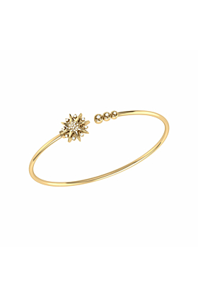 14kt Yellow Gold Plated Silver Supernova Cuff