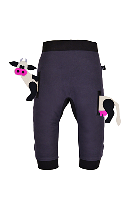 Pocket Set Trousers Duo Colori with Animal Toy | Baby Cow