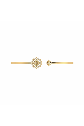 14kt Yellow Gold Plated Silver Starburst Cuff
