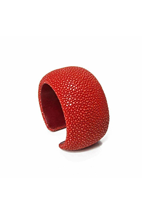 Samba Coral Stingray Leather Bangle