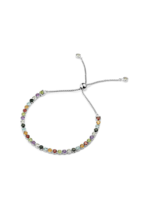 Sterling Silver Sanchong Rainbow Gemstones Bracelet