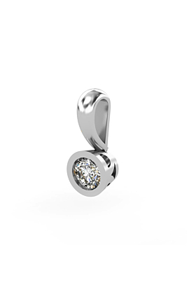 18kt White Gold & Diamond Solitaire Pendant I