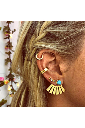 Yellow Gold Plated Rainbow Shelly Earrings