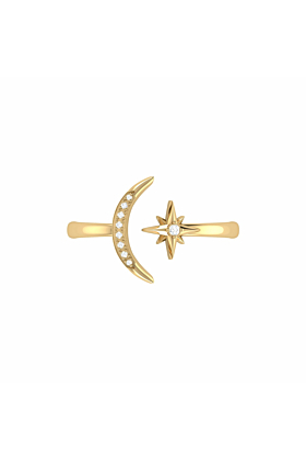 14kt Yellow Gold Plated Starlit Ring