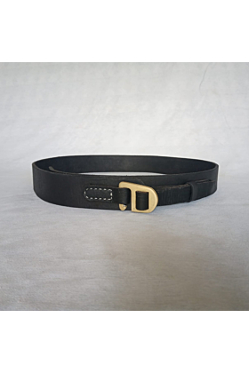 Leather belt with Bronze Hook Buckle