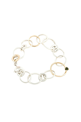 Silver & 9kt Yellow Gold Queen Bracelet