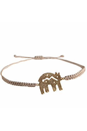 24kt Yellow Gold Zuni Bear Bracelet