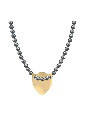 Made In Britain Necklace - 9kt Yellow Gold Vermeil Spiked Shield