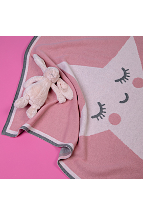 Cosatto Personalised Happy Star Knitted Blanket