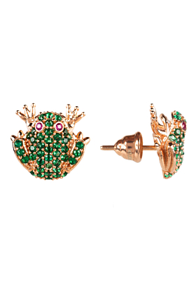 The Frog Prince Stud Earrings Rose Gold