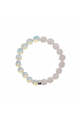 Sterling Silver Opal & Rose Quartz Orbis Bracelet