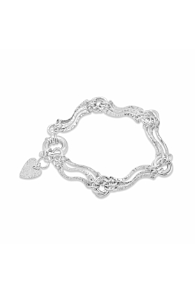 Sterling Silver Oceana Waves Bracelet