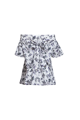 Wide Flowered Blouse Dahlia S/M