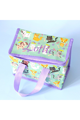 Personalised Cats & Dogs Lunch Bag