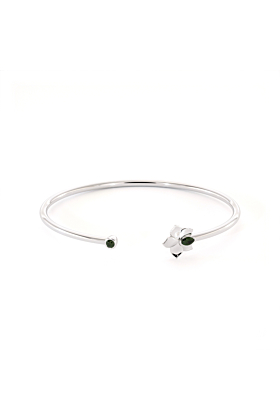 Chrome Diopside Orchid Bangle