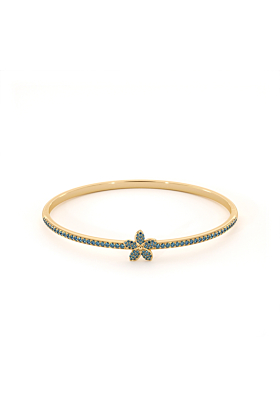 Garland Bangle with Blue Topaz