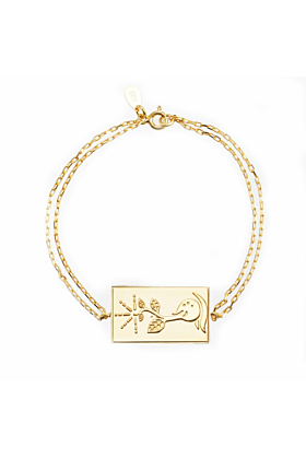 24kt Yellow Gold Celestial Days - Saturn's Day Bracelet